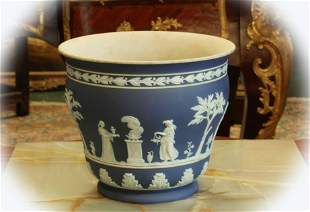 AntiqueWedgwood Jasperware Planter Cachepot