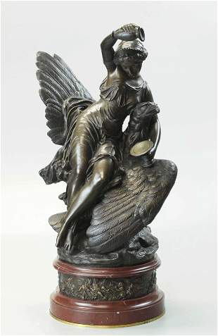 19th Century Bronze Statue, signed