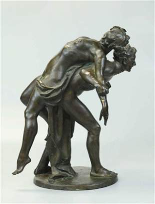 19th Century Bronze Statue, brown patina, signed