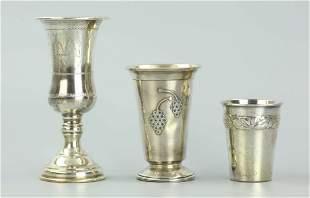 Three Kiddush Cups