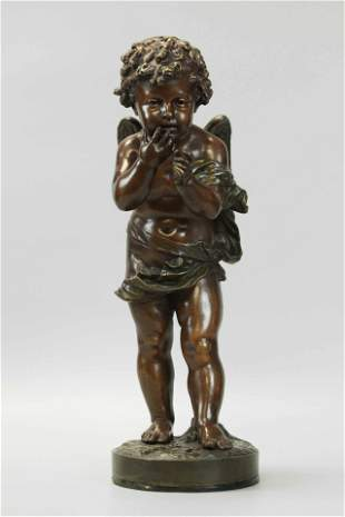Bulio, bronze statue of angel