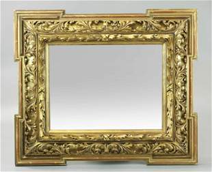19 C Carved And Gilt Mirror