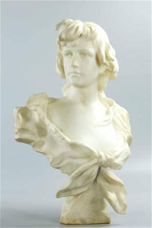 19th Century Carrara Marble Statue