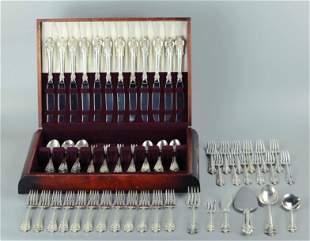 Wallace Grande Baroque sterling silver flatware set