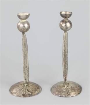 Pair candlesticks, signed Jackson