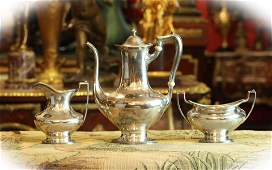 19 C three Gorham sterling silver coffee pieces with
