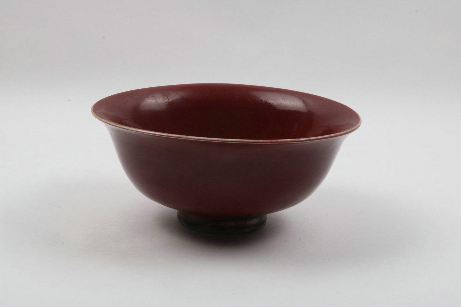 A Chinese Red Glazed Porcelain Bowl