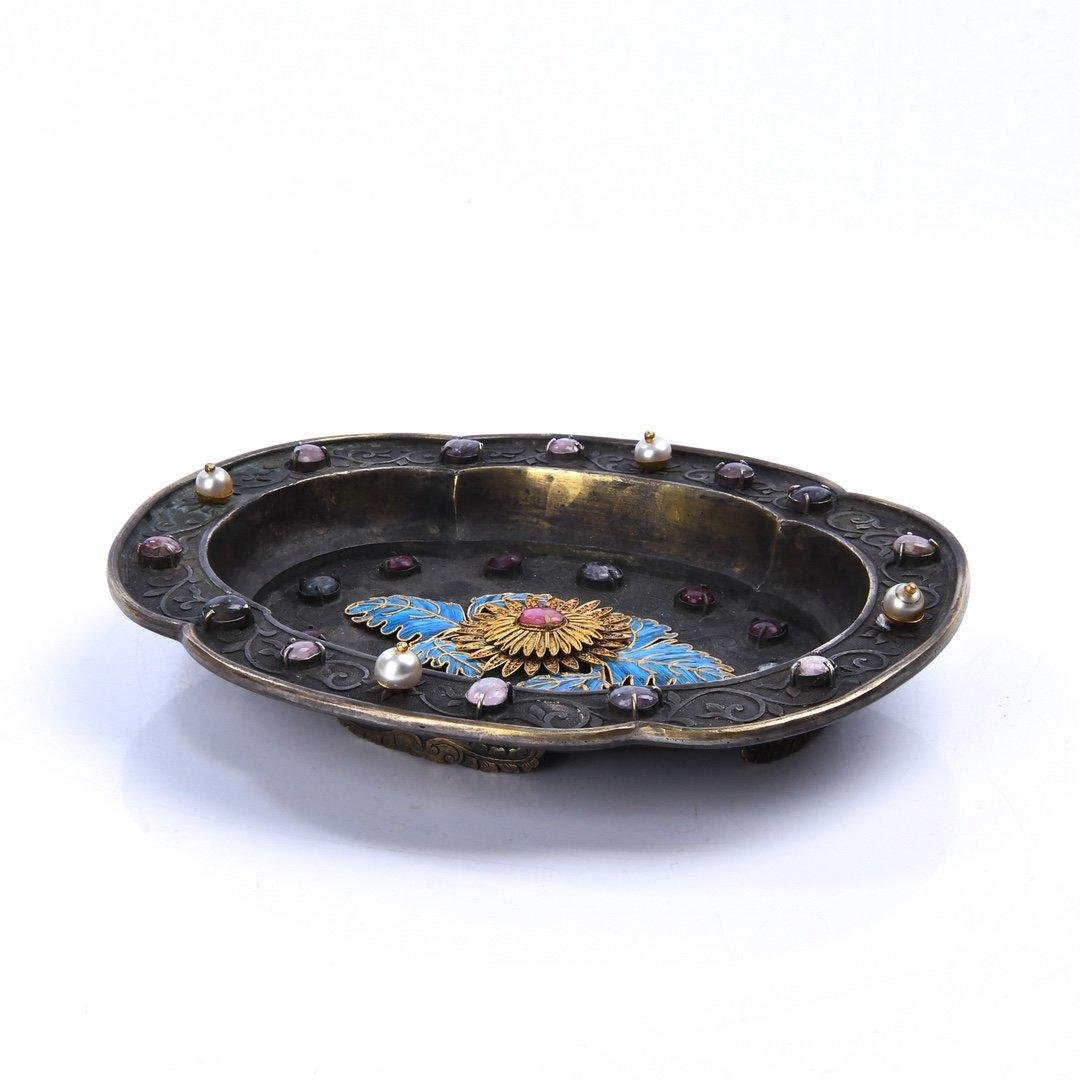 A Chinese Silver Tray