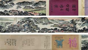 chinese hand scroll painting by qian songyan
