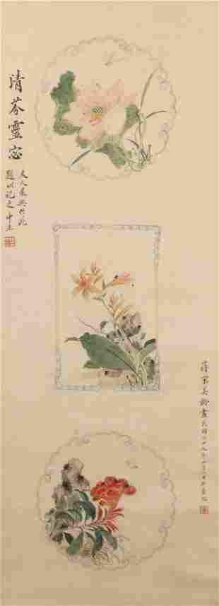 chinese painting of flower by song meiling