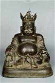 Chinese Bronze Maitreya Buddha