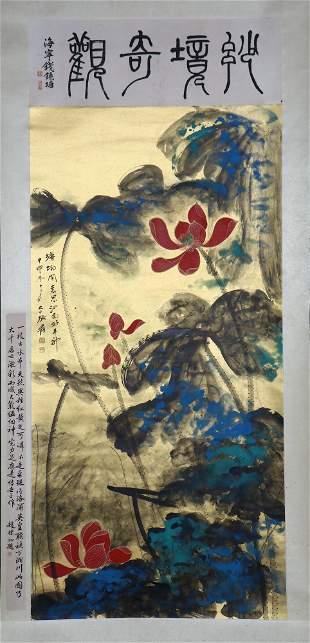 chinese painting by zhang daqian