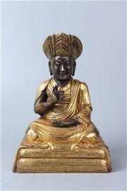 chinese gilt bronze statue of buddha