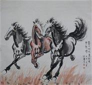 chinese xu beihong's horse painting
