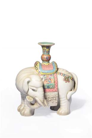 chinese famille rose porcelain candlestick