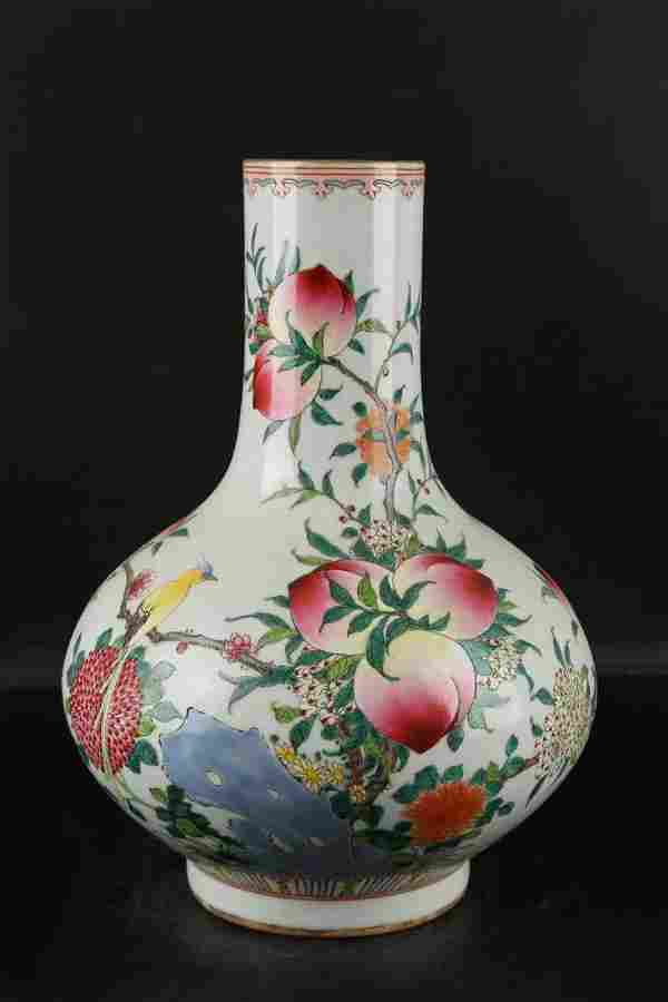 Chinese Qing Dynasty Qianlong Famille Rose Porcelain