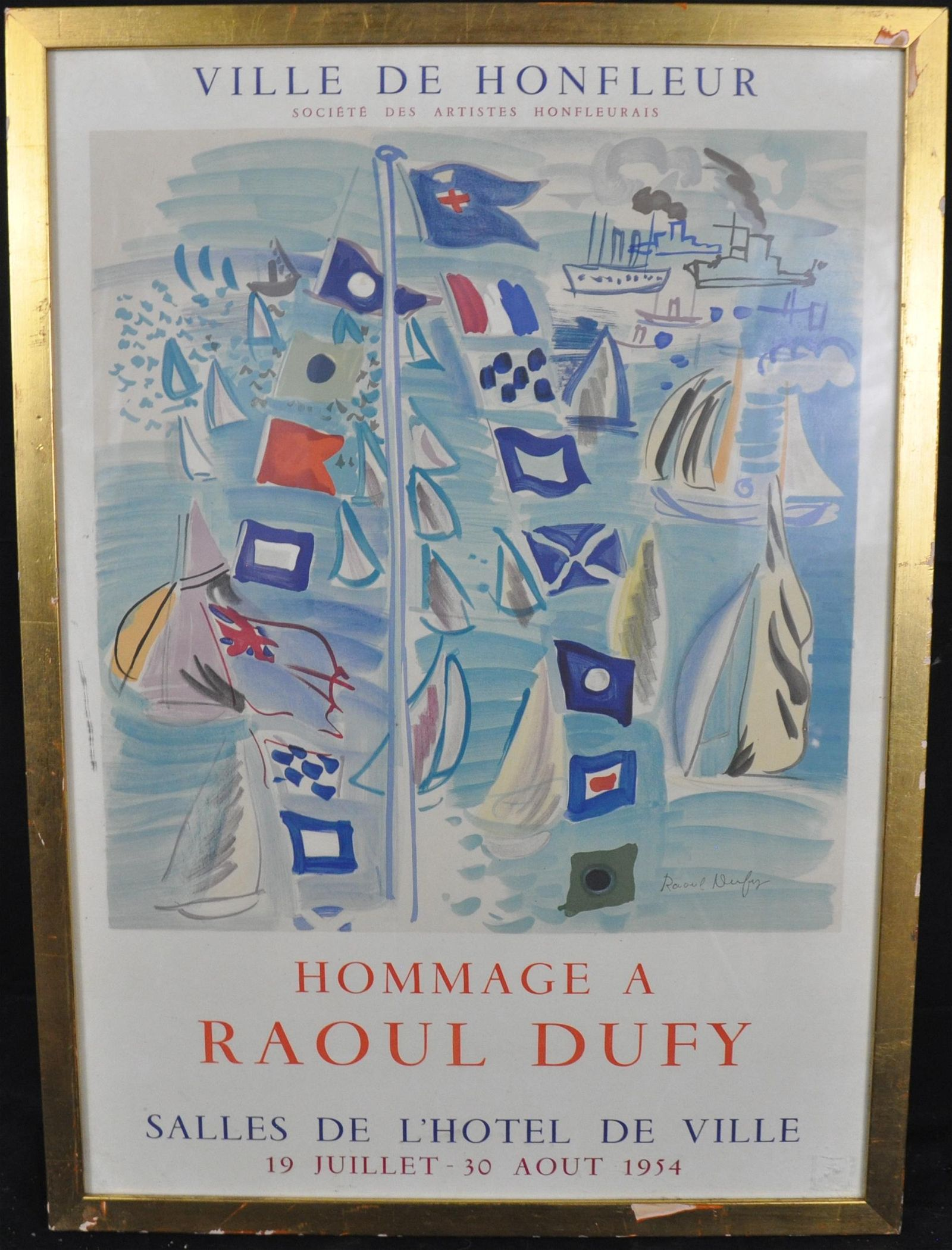 Raoul Dufy, original Lithographic Poster