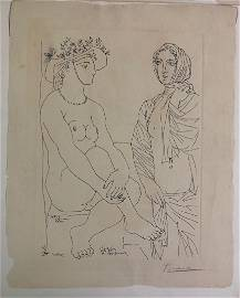 Pablo Picasso, French Artist, Pen & Ink, Modern