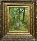 Thomas Anshutz Forest Interior Landscape Oil Painting