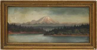 Hudson River School Western Mountain Landscape Painting
