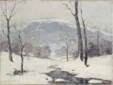 Antique New England Impressionist Landscape OC Painting