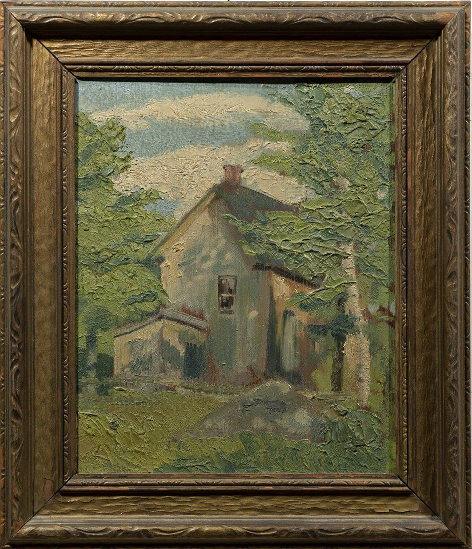 Louis Muhlstock Canadian Impressionist Barn Listed