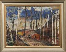 Important Fritz Brandtner Canadian Modernist Painting