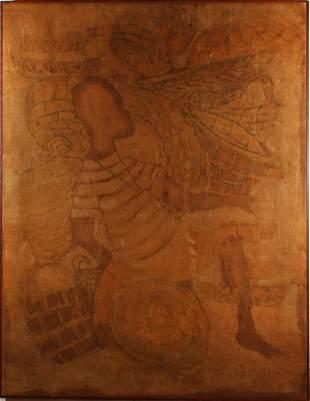 Antique African monotone Original Market Painting