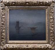 American Impressionist Tonalist Signed Oil Painting