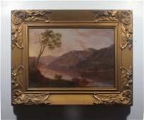 Antique Hudson River School Luminous Landscape
