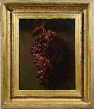 Museum Quality Antique Grape Still Life Painting