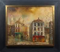 Paris School Impressionist Cityscape Oil Painting