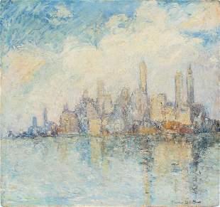 Antique American School Ashcan New York City Painting