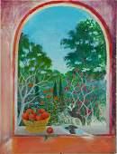 Beatriz Vidal Vibrant Garden Window Illustration