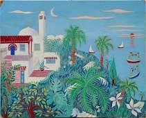 Beatriz Vidal Illustration of Mediterranean Manor