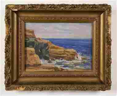 American Impressionist Coastal Seascape Beach Painting