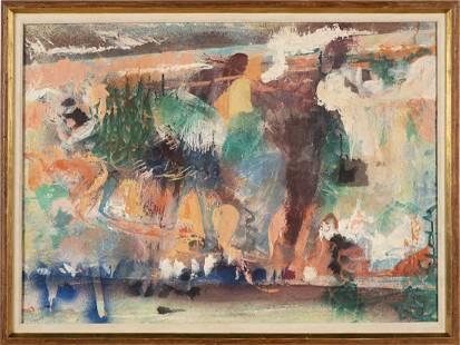 Morris Shulman Modernist Maine Landscape Rare Painting
