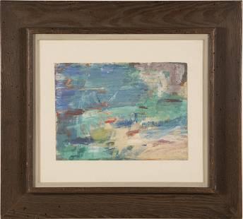 Modernist Maine Seascape Original Painting M. Shulman