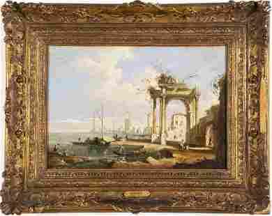 18th Century Italian Venice Cityscape Painting GUARDI