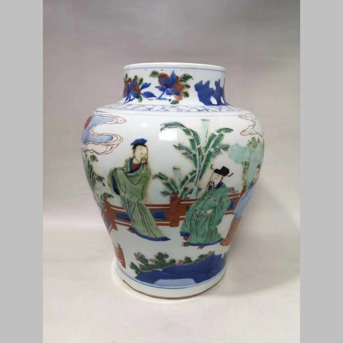 China,19C.A porcelain jar.