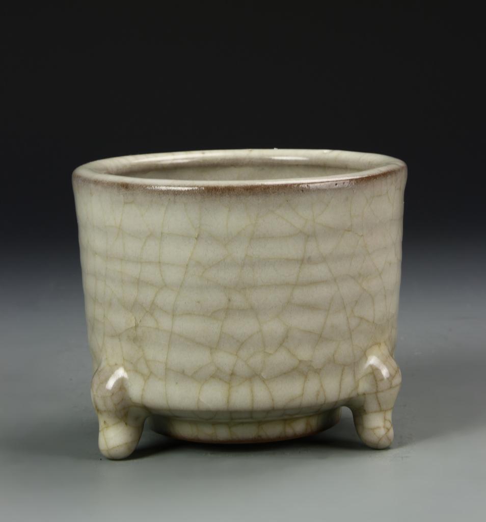 Chinese Geyao Tripod Censer