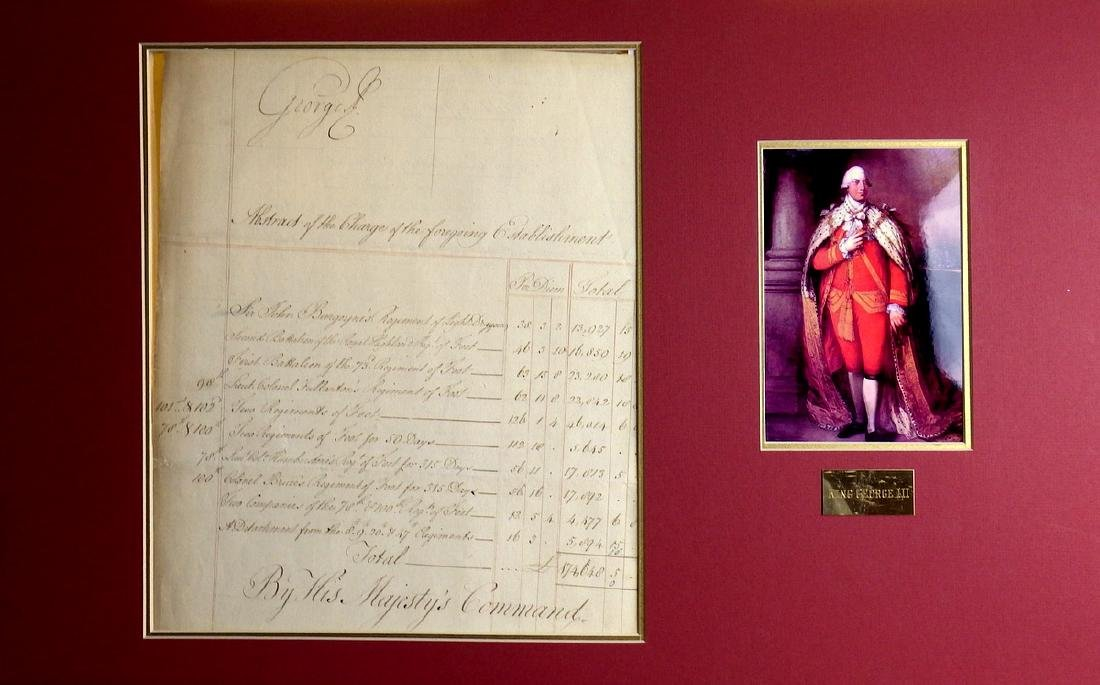 British Monarch GEORGE III - 1779 Doc Signed