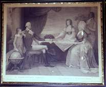 GEORGE WASHINGTON  1798 Engraving Framed