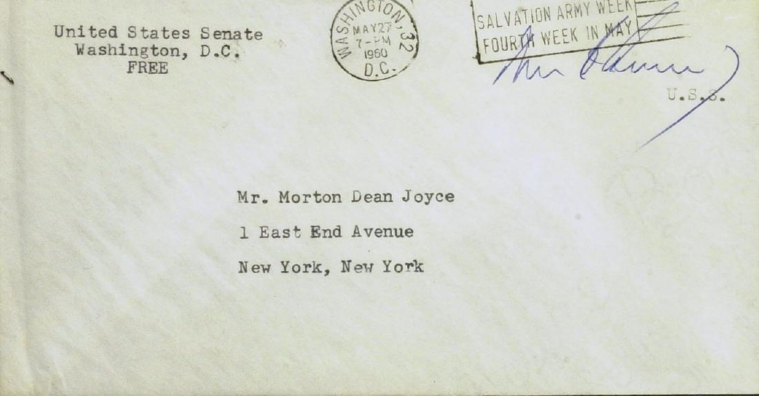 JOHN F KENNEDY - Free Frank Envelope *RARE*