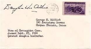 Gen DOUGLAS Mac ARTHUR - Postal Cover Signed