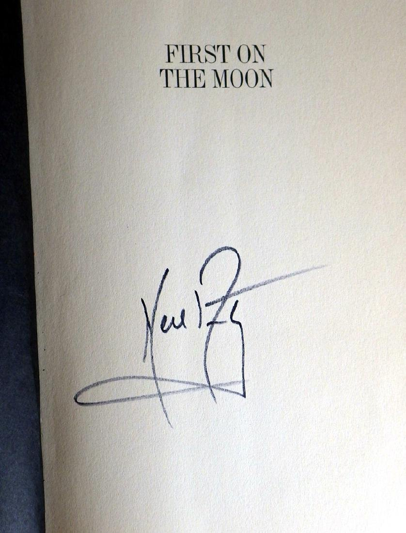 NEIL ARMSTRONG - Book First on the Moon Signed - 2