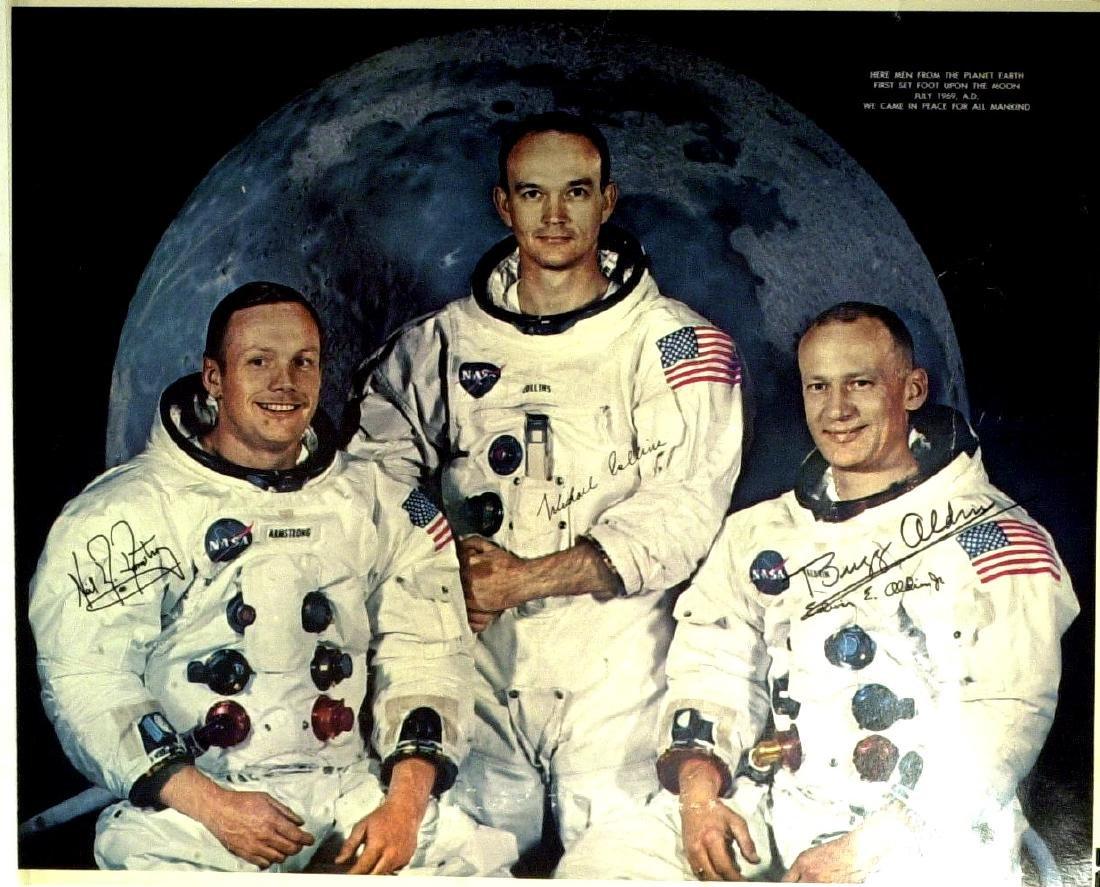 AstronautBUZZ ALDRIN - Apollo 11 Poster Signed