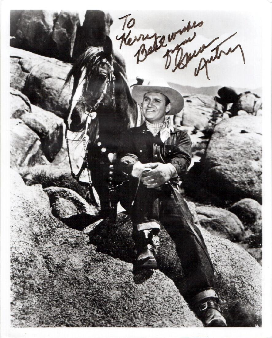 Singing Cowboy GENE AUTRY - Photo Signed