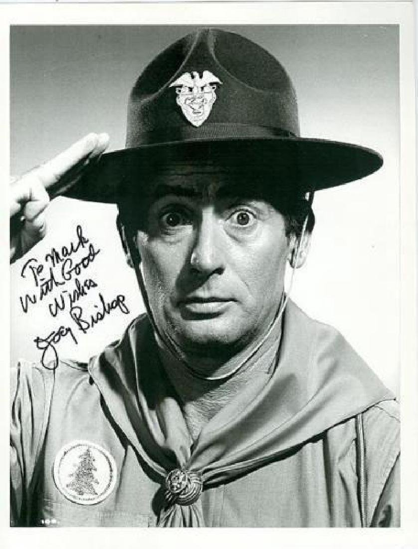 JOEY BISHOP - Photo in Costume Signed