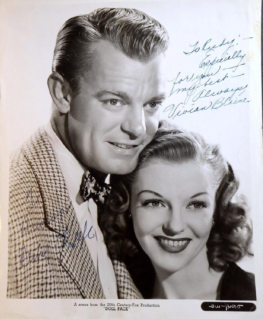 VIVIAN BLAINE & DENNIS O'KEEFE - 1945 Photo Signed